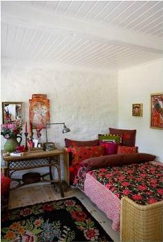 quarto colorido tapete