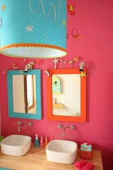 banheiro rosa azul