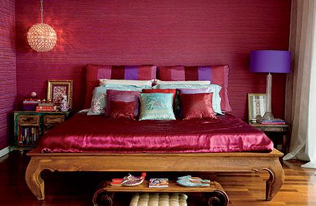 quarto roxo rosa