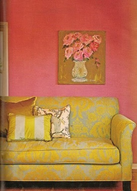 sala rosa amarelo
