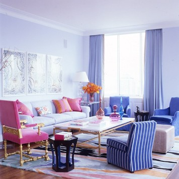 sala lilás rosa
