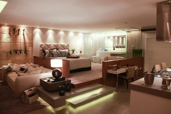 decoracao de cozinha e quarto juntos : decoracao de cozinha e quarto juntos: de uma mostra de decoração famosa). Tudo junto: Sala cozinha, quarto