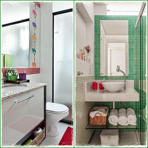 decoracao de ambientes pequenos banheiros: muito bem. As pequenas cubas atuais ajudam muito os pequenos espaços