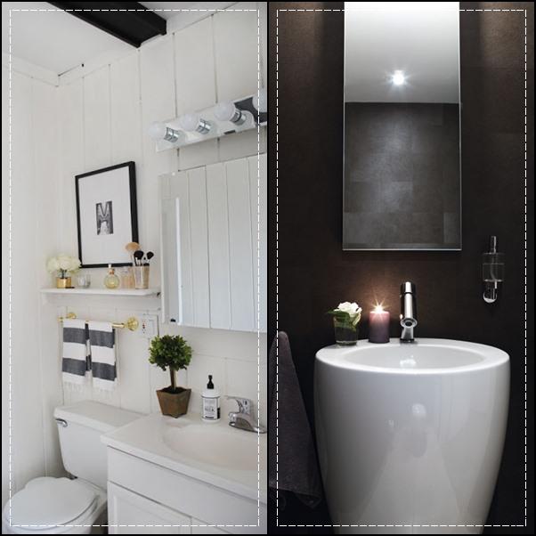 decoracao banheiro pequeno preto e branco : decoracao banheiro pequeno preto e branco:Banheiro pequeno todo branco com toques em cinza e preto ou tudo preto