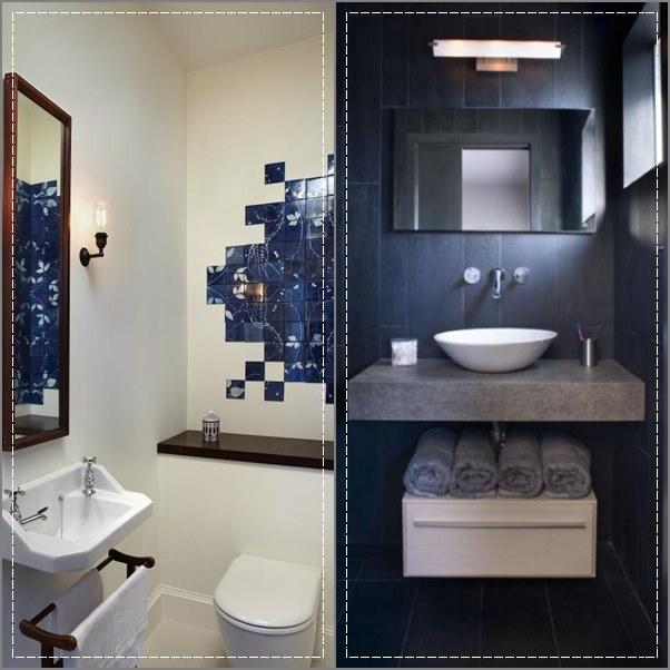 decoracao de lavabos pequenos e simples: banheiros e lavabos pequenos