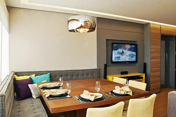 decoracao de apartamentos pequenos sala de jantar:áreas de jantar charmosas em ambientes pequenos ou nem tão pequenos