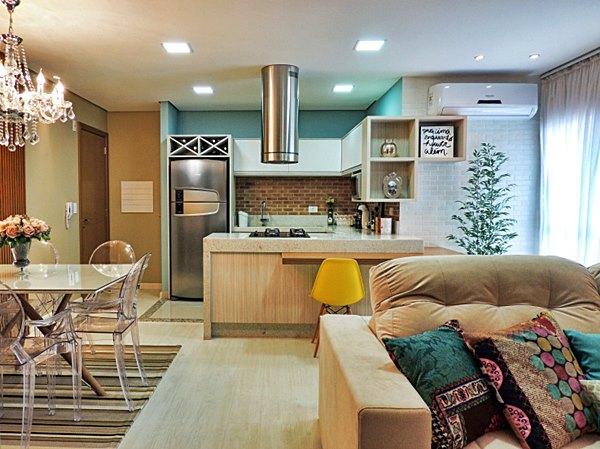 decoracao de ambientes pequenos e integrados : decoracao de ambientes pequenos e integrados:ambiente integrado