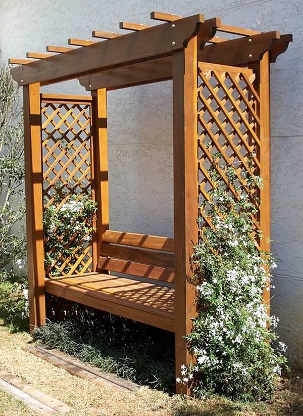gazebo jardim madeira:Dá para ter um pergolado em jardim pequeno?