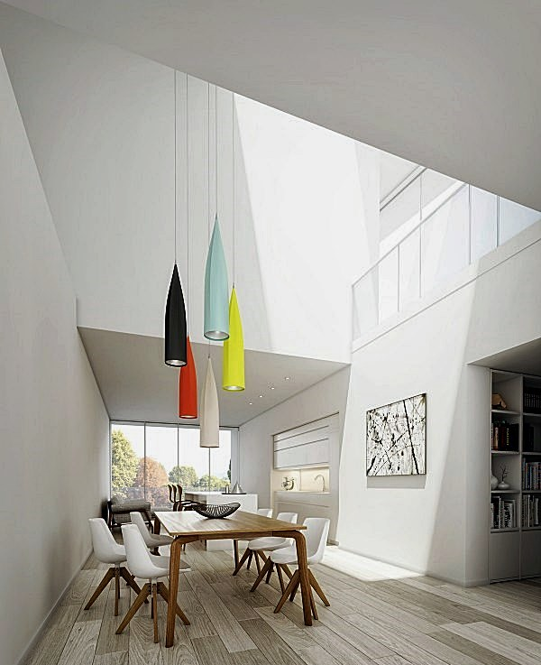 homedesigning vaulted-skylights-dining-room-600x768