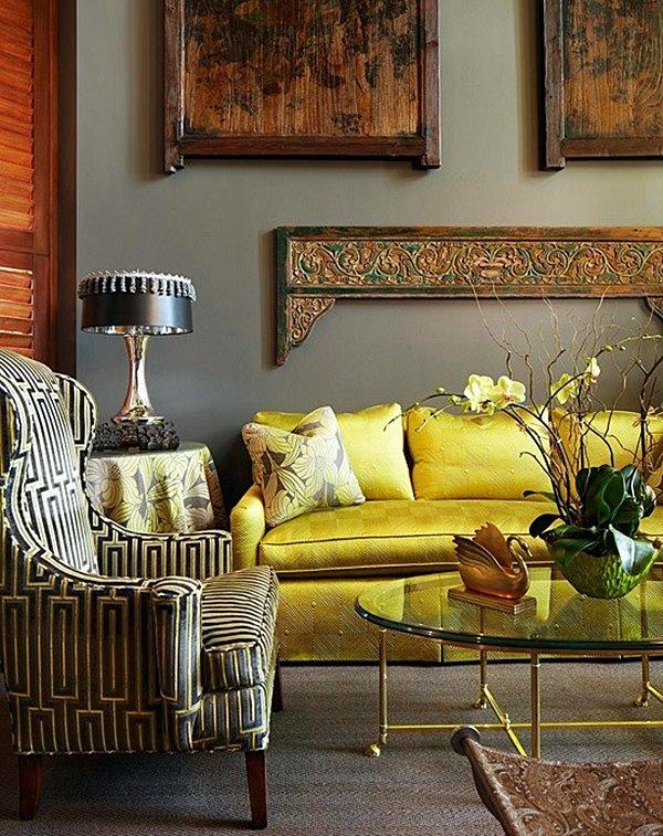 thedecorista yellow-silk