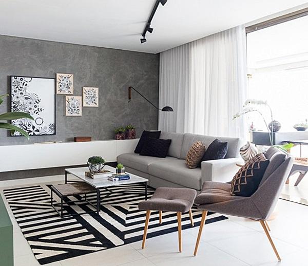 revistacasaejardim sala-estar-sofa-poltrona-cinza