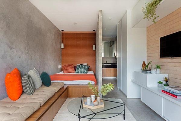 Studio compacto de 27m2 assinado pelo TRIA Arquitetura5