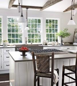 Cozinha com península, tbém para ambientes grandes, quadrados ou  retângulares
