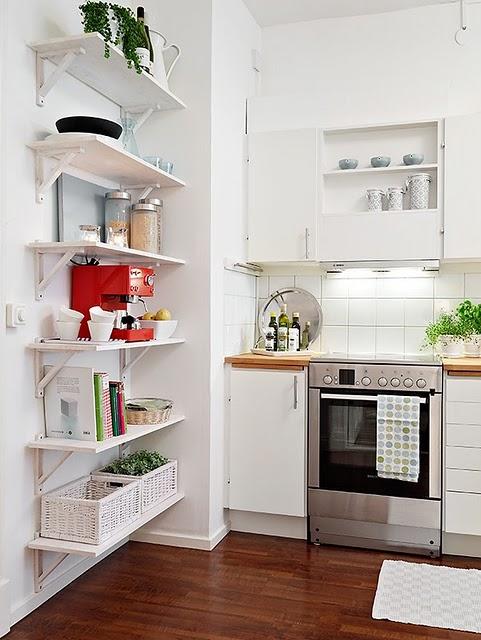 decoracao cozinha pequena simples:Cozinhas pequenas