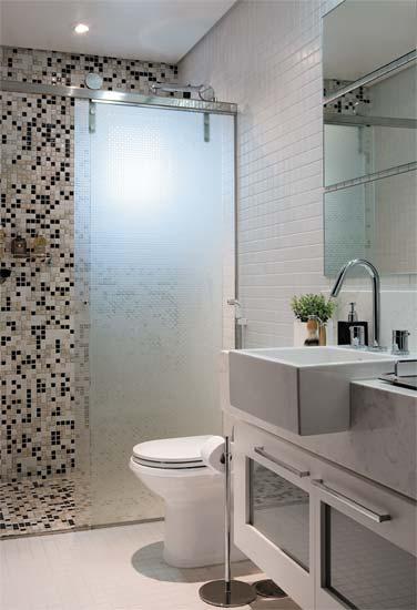 Banheiros Pequenos!  Muriel Andréa  Design de Interiores -> Banheiro Pequeno Suite