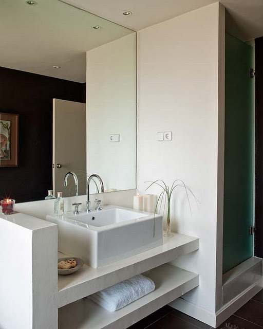 Banheiros e lavabos sara castro interiores for Lavabo profundo