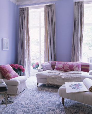 Cores na decora o 7 roxo lil s simples decoracao for Pink and purple living room ideas