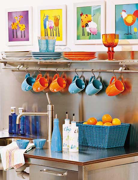 decoracao na cozinha:Decoração – Cor na Cozinha