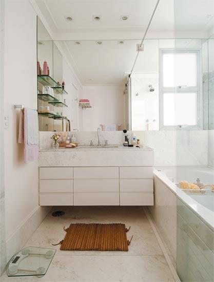Criando Soluções Novembro 2011 -> Banheiro Comprido E Estreito Com Banheira