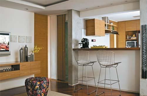 Claudia Empreendimentos  Sala de Estar, Jantar, Cozinha – Tudo Junto! # Sala E Cozinha Pequena Juntas