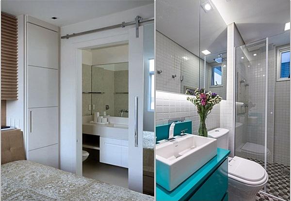 Casal  Simples Decoração -> Decoracao De Banheiro Pequeno De Casal