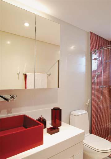 Banheiros Decorados on Pinterest  Cuba, Madeira and Arquitetura -> Banheiro Pequeno Decorado De Vermelho