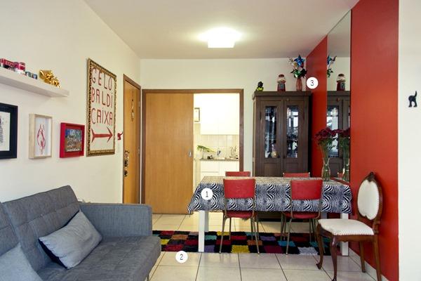 Decoraç u00e3o Dividindo espaços no mesmo ambiente Simples Decoracao Simples Decoraç u00e3o -> Decoração De Sala De Jantar E Estar No Mesmo Ambiente