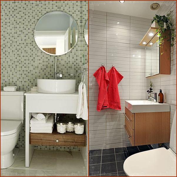 20 banheiros e lavabos pequenos  Simples Decoracao  Simples Decoração # Banheiros Lavabos Simples