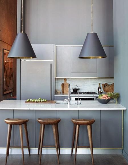 smallshopbyEricaBrechtelgray-cabinets-gold-brass-trim-white-carrera-countertop-kitchen-Athena-Calderone