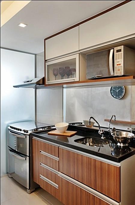 Com Estilo As Cores mais usadas nas Cozinhas Pequenas! # Cozinha Pequena Inox Ou Branco
