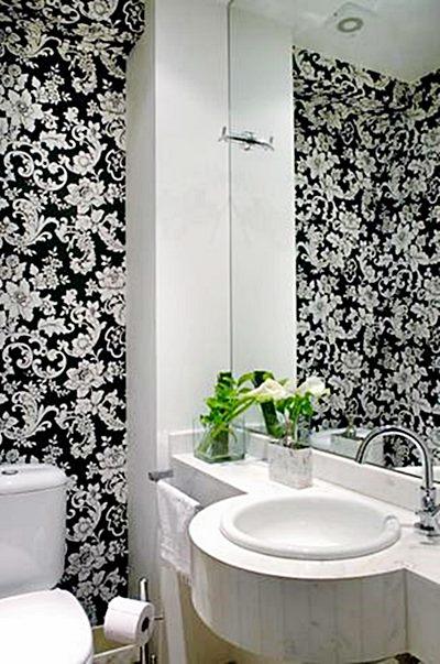 Lavabos e banheiros pequenos e bem resolvidos  Simples Decoracao  Simples D -> Decoracao De Banheiros E Lavabos Pequenos