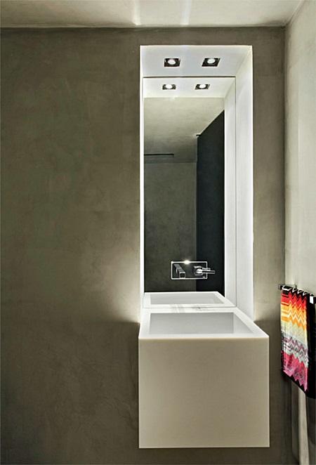 10 BANHEIROS E LAVABOS ILUMINADOS  Nexxar Imóveis -> Drywall Banheiro Pequeno