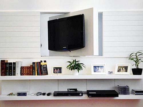 Fotos De Sala Com Tv Lcd Na Parede ~ Muito simpático e elegante este painel