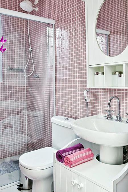 Banheiros e lavabos pequenos  10 ideias  Simples Decoracao  Simples Decoração -> Cuba Banheiro Rosa