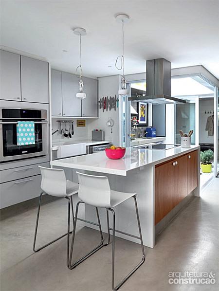 Branco na Cozinha  Simples Decoracao  Simples Decoração # Cozinha Planejada Cinza E Branco