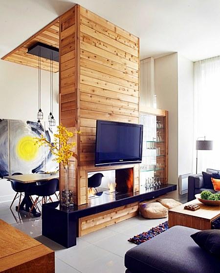 Dividindo espa os com criatividade simples decora o for Poele a bois horizontal