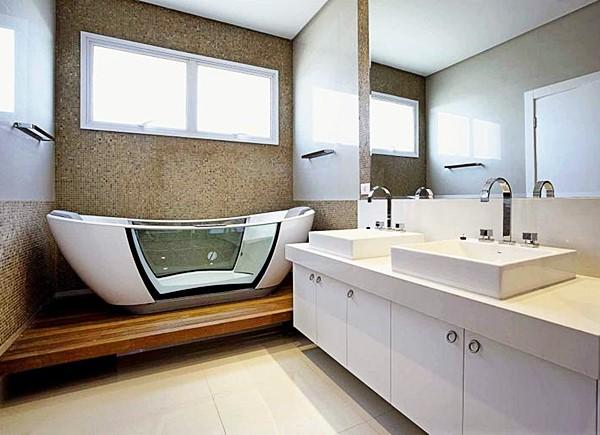SOUL móveis Banheiro com banheira -> Banheiro Medio Com Banheira