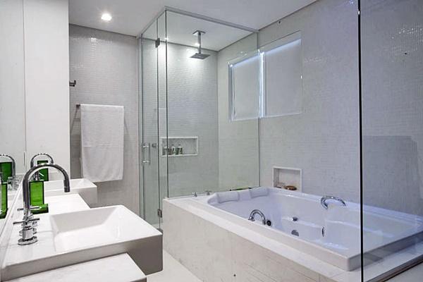 Banheiros com banheira  Simples Decoracao  Simples Decoração -> Fotos De Banheiro Com Banheira De Hidro