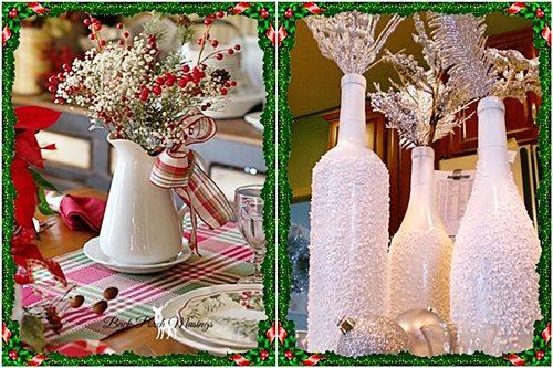 enfeites de natal para jardim iluminados : enfeites de natal para jardim iluminados: pintadas de branco com sal grosso colado ou serragem pintada de branco