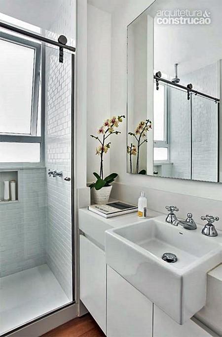E quem não tem um lavabo ou banheiro pequeno?  Simples Decoração -> Banheiro Medio Com Banheira