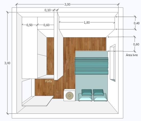 Guarda Roupa Solteiro Quarto Pequeno ~ Um closet pequeno no quarto pequeno  Simples Decoracao  Simples