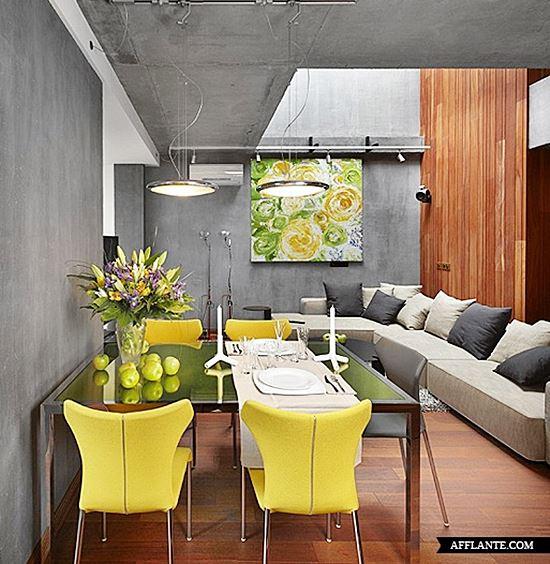 10 salas de estar e jantar integradas simples decoracao for Sala de estar 12m2
