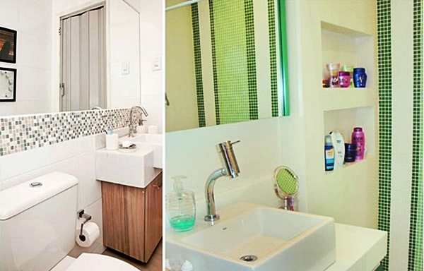 Cozinha Com Forro E Faixa 20 Cm De Gesso Pictures to pin on Pinterest -> Banheiros Com Pastilhas Em Volta Do Espelho