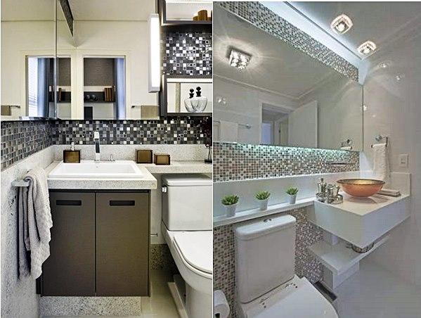 20 banheiros usando pastilhas  Simples Decoracao  Simples Decoração -> Banheiros Com Pastilhas Atras Do Vaso