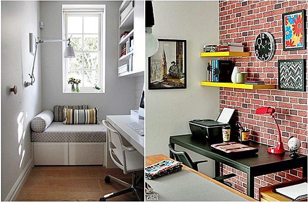 Home Office O que há além da mesa? Simples Decoracao  ~ Quarto Casal Pequeno Com Home Office