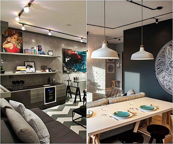 A decora o de 2016 fortes tend ncias simples for Cortina de estilo industrial