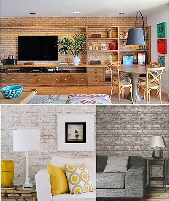 10 formas de ter uma parede de tijolinhos em casa for Paredes decoradas com ceramicas rusticas