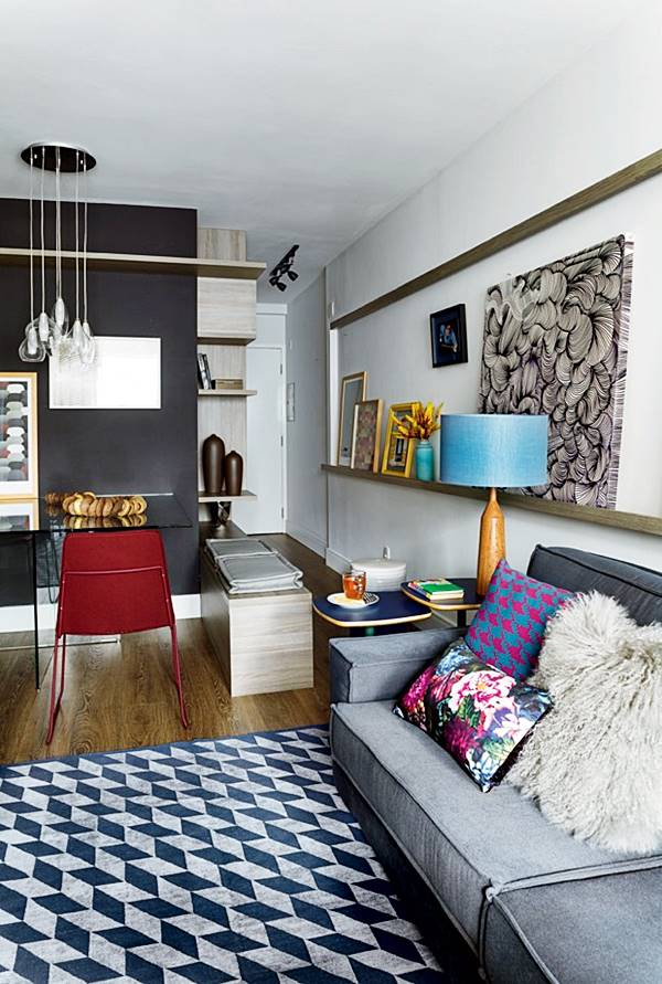 Sala De Tv Com Tapete E Almofadas ~ Combinando a decoração com tapete estampado  Simples Decoracao