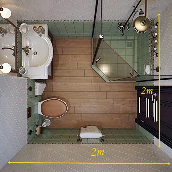 Pequenos ambientes criando espa o onde n o h simples for Bathroom design 2m x 2m