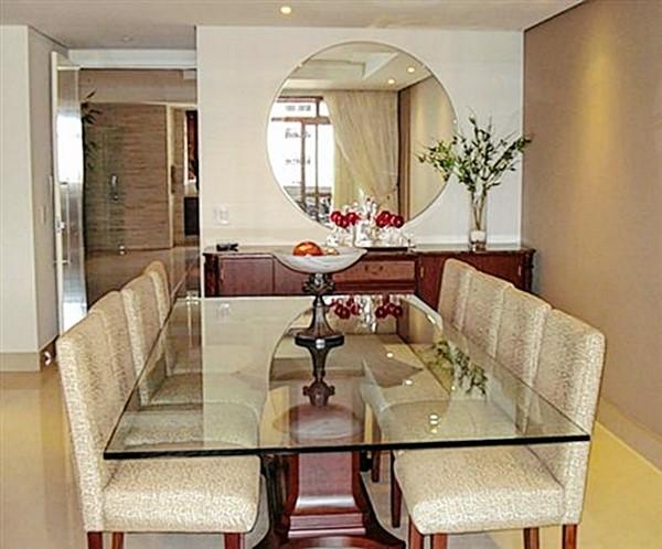 COMO PENDURAR UM ESPELHO u2013 DICAS E FOTOS u2013 Dicas Legais -> Decoração De Sala De Jantar Com Espelho Redondo